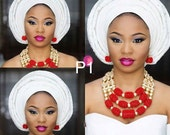 New arrival African Nigerian traditional wedding and occasional beads necklace set