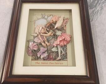 Framed decoupage Flower Fairies
