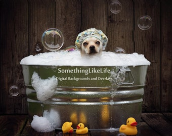 Bubble Bath Digital Background ~ Water