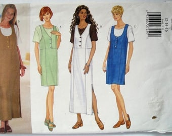 Misses Jumper, Misses Top, Pullover Jumper, Butterick 5466, Size 12 14 16, Sewing Pattern, Princess Seams, Uncut