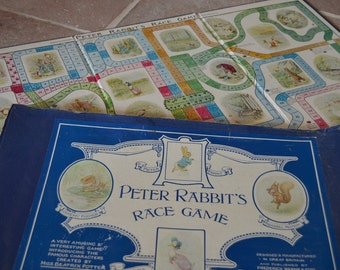 Collectible Vintage Copy of Peter Rabbit's Race Game by Beatrix Potter, England, Frederick Warne and Co.