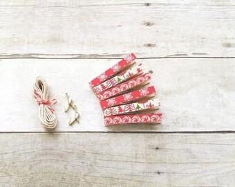 Christmas Card Hanger - Clothespin Photo Hanger - Artwork Hanger – Photo Line - Kids Art Display - Artwork Display - Decorative Clothespins