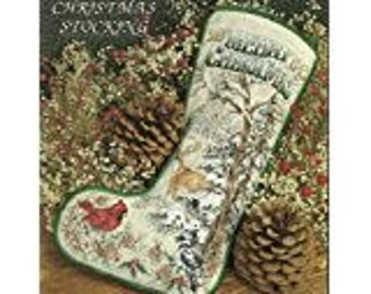 Stoney Creek WOODLAND CHRISTMAS  STOCKING Cross Stitch Pattern