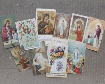 Pious images of Communion Profession of faith vintage / old religious holiday cards