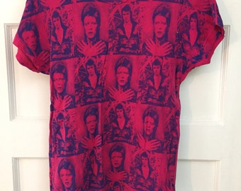 David Bowie fitted t-shirt by Glamhead, Ziggy Stardust size small