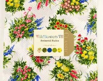 "Moda WILDFLOWERS VII Layer Cake 42 10"" Fabric Squares 32970LC by Sentimental Studios"