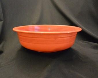 "Vintage FIESTA Red Nappy Bowl: 9.5"""