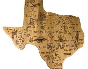 Texas Engraved Cutting Board
