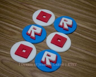 ROBLOX, Video Gamer, Birthday Cupcake Toppers