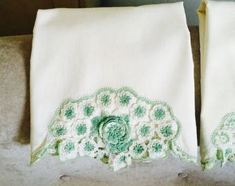 Crocheted Vintage Pillowcases