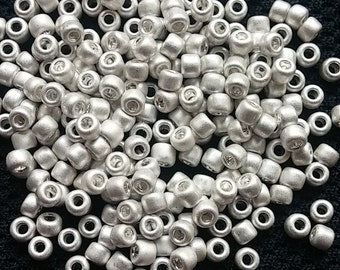 8/0 Galvanized Matte Silver, Matsuno F470, Japanese Glass Seed Beads, 28g.