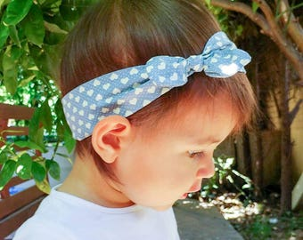 "Hair band for girl or Mama ""little hearts"""