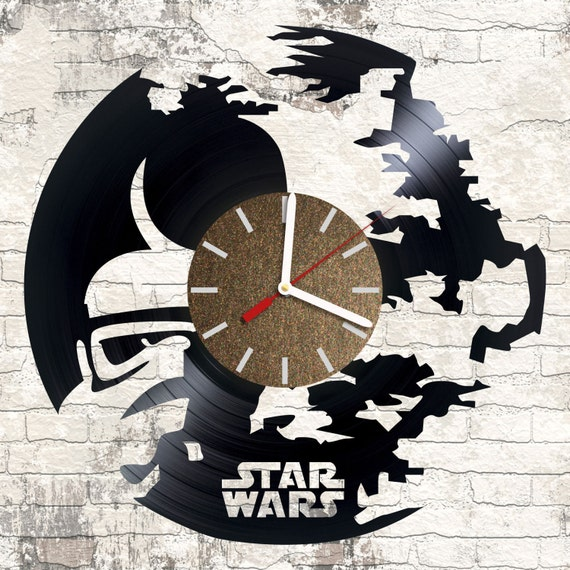 Vinyl Wall Clock Star Wars Darth Vader