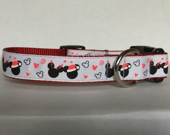 Holiday Minnie and Mickey Collar
