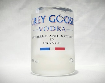 Soy Candle or Drinking Glass. Upcycled Vodka Bottle. Choose your own fragrance.