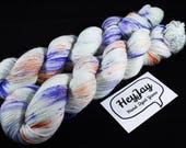 SALE ITEM 4ply Hand Dyed Yarn Superwash Merino - Apple Sprinkle