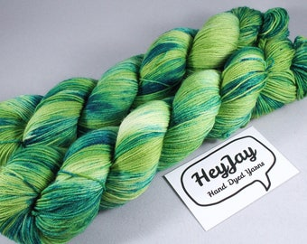 Hand Dyed Sock Yarn Superwash Merino - Denim