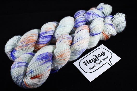 4ply Hand Dyed Yarn Superwash Merino - Apple Sprinkle
