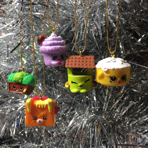 Shopkins 5 Christmas Ornaments