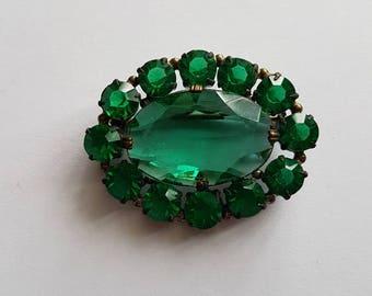 Stunning vintage diamante brooch