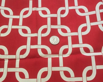 premier prints gotcha links in red twill cotton