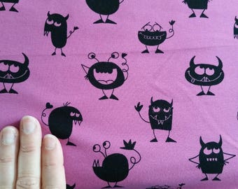 Berry Monsters Cotton Lycra Jersey Knit Fabric