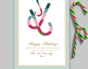 Candy cane card | Etsy