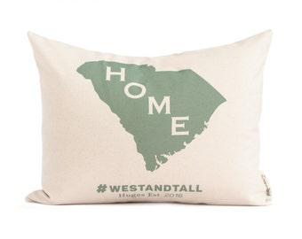Home State Pillow, Map Pillow, Housewarming Gift, Throw Pillow, Cotton Anniversary, Gift for Him, Gift For Her