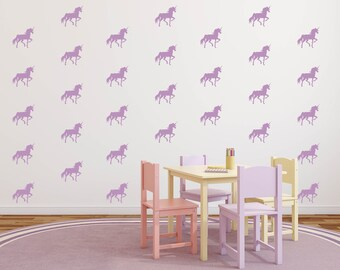 Unicorn Decals - Unicorn Wall Decals - Unicorn Pattern Decal - Unicorn Wall Art - Unicorn Nursery - Unicorn Wall Decor - Unicorn Party
