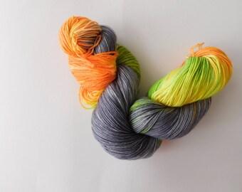 Breakthrough 5 hand dyed sock yarn/wool