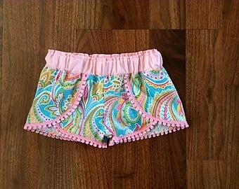 Girl's Coachella Shorts, summer paisley shorts, Spring Shorts, Summer Shorts, Toddler Shorts, Girl's Shorts, Children's Clothes