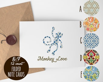 Monkey Love Note Cards