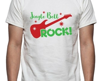 Jingle Bell Rock Tee Shirt Design, SVG, DXF, EPS Vector files for use with Cricut or Silhouette Vinyl Cutting Machines