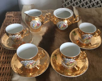 Bernadotte Gold Tea Set