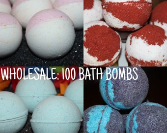 WHOLESALE 100 3 oz. Bath Bombs- Bulk Discount