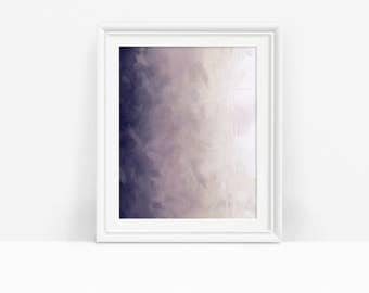 Printable Abstract Art, Off White and Purple Wall Art, Modern Decor, Digital Download
