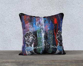 FREEDOM//Pillow//Canvas Pillow//Velveteen Pillow// Home Decor// Pillow Case