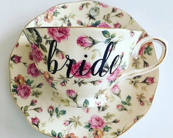 Bride Tea Cup and Saucer