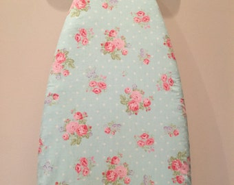 Ironing Board Cover/Floral Ironing Board Cover/Shabby Ironing Board Cover/Cabinet Ironing Board Cover/Aqua Ironing Board Cover