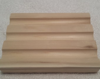 Wooden Soap Dish Hand Crafted Cedar