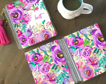 Floral Planner Cover: for use with Erin Condren Life Planner(TM), Happy Planner and Recollections Planner