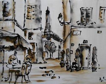 """Painting """"Café de Paris"""""""