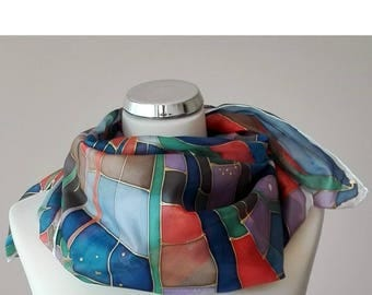 No. 5010 hand painted silk scarf