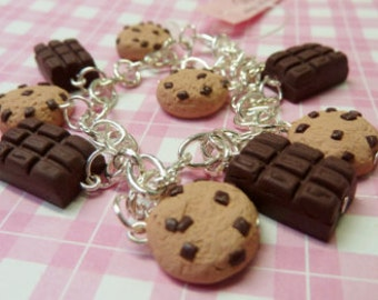 Chocolate cookies and bars bracelet
