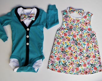 SALE- Boy and Girl Twin Set