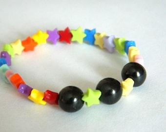 Shungite children stretchy bracelet EMF protection stone bracelet
