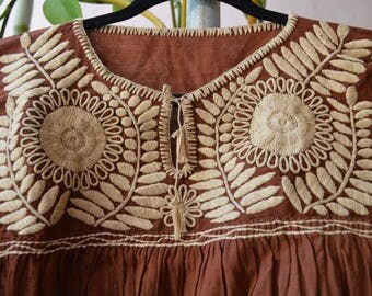 Hand Embroidered Mexican Blouse