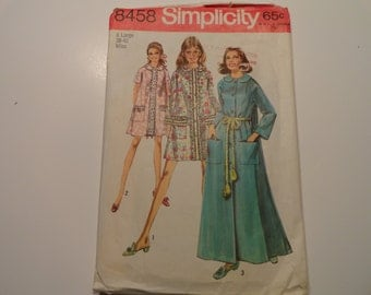 Simplicity Vintage Robe sewing Pattern 1969 Size Misses Xtra Large 38-40