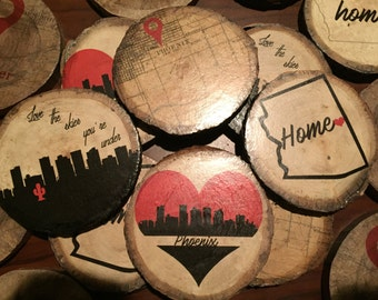 Wood Coasters, Phoenix Coasters, Arizona Coasters
