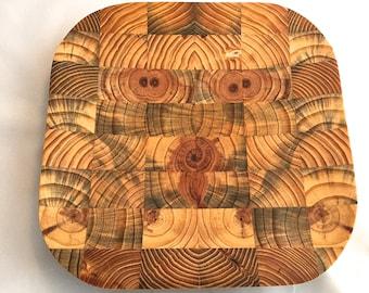 Reclaimed wood tray set